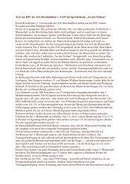 Text zur JHV des TuS Bruchmühlen v. 9.3.07 im Sportlerheim ,,An ...