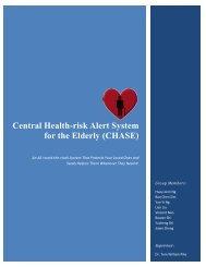 Central Health-risk Alert System for the Elderly (CHASE) - Electrical ...