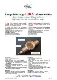 Lampe infrarouge LIRAInfrared emitter Source étendue ... - Sodern