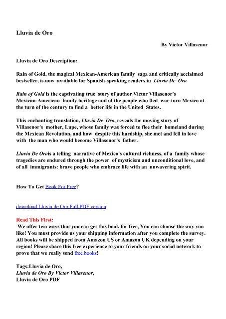 Lluvia de Oro - PDF eBooks Free Download