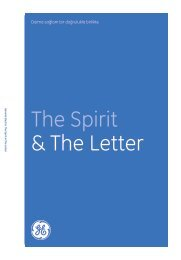 The Spirit & The Letter Download in Turkish: GE ... - General Electric