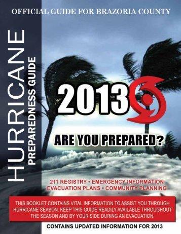 2013 - Hurricane Preparedness Guide - Brazoria County