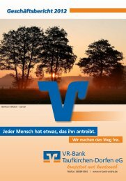 Geschäftsbericht - VR-Bank Taufkirchen-Dorfen e.G.