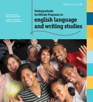 Online brochure about learning English as a second language