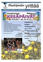 haukipudas yrittää 2/2011 kesäkuu - Pudasjärvi-lehti ja VKK-Media Oy