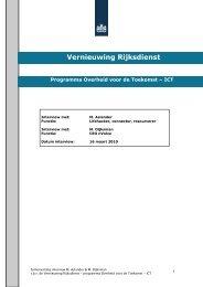 Programma Overheid voor de Toekomst – ICT - Martijn Aslander