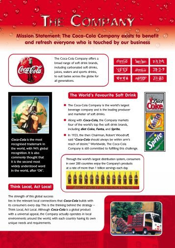 Mission Statement: The Coca-Cola Company exists to ... - Webs