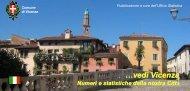 Numeri e Statistiche della nostra città - Comune di Vicenza