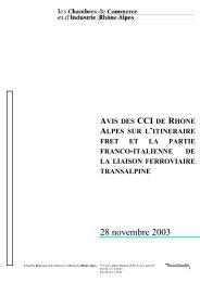 LYON-TURIN : avis sur l'itinéraire Fret et la partie Franco-italienne ...