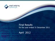 SMS Final Results 2011 - Smart Metering Systems