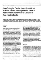 Urine Testing for Cocaine Abuse: Metabolic and Excretion Patterns ...