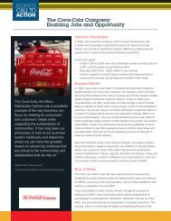 The Coca-Cola Company - Business Call to Action