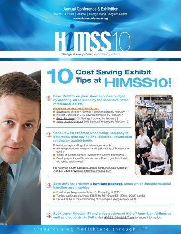 Top 10 Cost Savings Tips - HIMSS Vendor Center