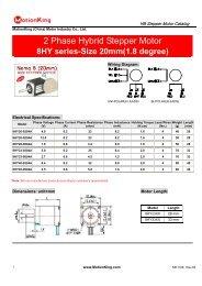 2 Phase Hybrid Stepper Motor