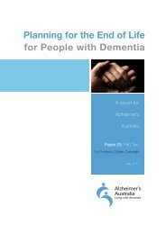 Planning for the End of Life for People with Dementia Part 2