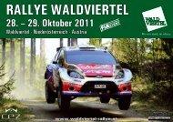 RALLYE WALDVIERTEL 28. – 29. Oktober 2011
