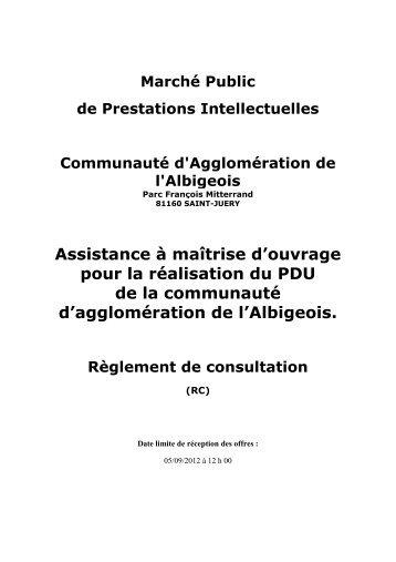 Assistance à maîtrise d'ouvrage pour la réalisation du PDU de la ...
