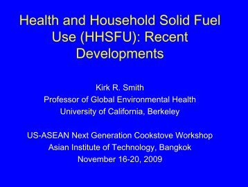 Health and Household Solid Fuel Use (HHSFU) - Environmental ...