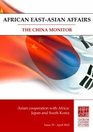 AFRICAN EAST-ASIAN AFFAIRS - The Centre for Chinese Studies