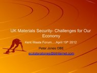 UK Materials Security- Challenges for Our Economy - Ecolateral by ...