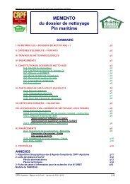 MEMENTO nettoyage propriétaires - 20-01-2010 - Le Centre ...