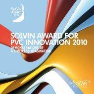 SOLVIN AWARD FOR PVC INNOVATION 2010