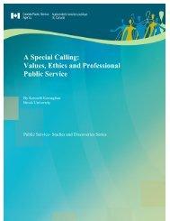Values, Ethics and Professional Public Service - Treasury Board of ...