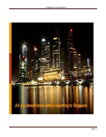 All you should know before exporting to Singapore - Ministry of ...