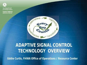 Adaptive Signal Control Technology Overview (FHWA) (PDF)