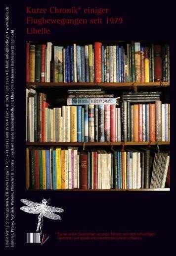 Kurze Chronik* einiger Flugbewegungen seit 1979 Libelle