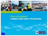 CUSP induction presentation - Ports of Auckland