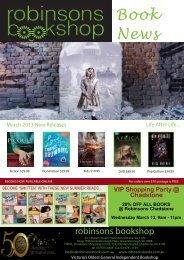 Book News - Robinsons Bookshop