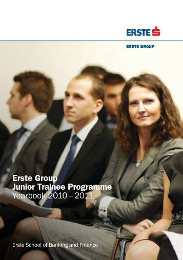 Erste Group Junior Trainee Programme Yearbook 2010 – 2011