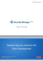 AdventNet ManageEngine Security Manager Plus - Help ...