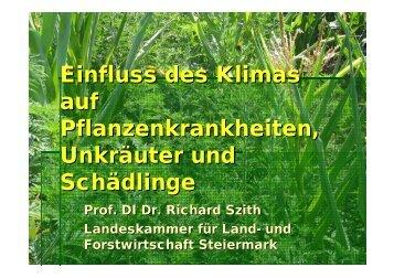 Einfluss des Klimas auf Pflanzenkrankheiten, Unkräuter ... - adagio