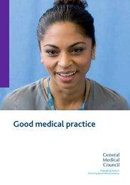 Good medical practice (2013) - General Medical Council