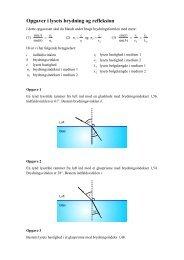 Opgaver i lysets brydning og refleksion - matematikfysik