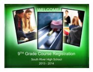 9th Grade Parent Night Registration Presentation - South River High ...