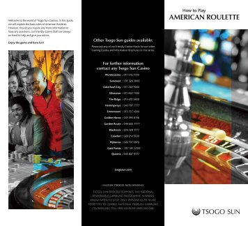 How to play AMERICAN ROULETTE - Tsogo Sun