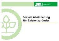 Soziale Absicherung für Existenzgründer