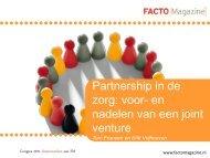 Partnership in de zorg: voor- en nadelen van een ... - Facto Magazine