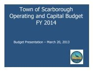 Town of Scarborough Operating and Capital Budget FY 2014