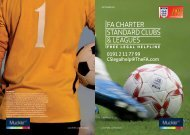 FA ChArter StAndArd ClubS & leAgueS - The Football Association