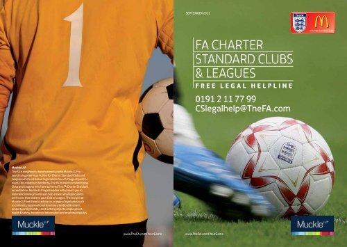 FA ChArter StAndArd ClubS & leAgueS - The Football Association