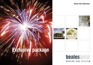 Exclusive Package - (PDF download) - Beales Hotels