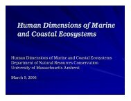 Human Dimensions of Marine and Coastal Ecosystems - The Florida ...