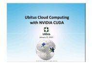 Ubitus Cloud Computing with NVIDIA CUDA