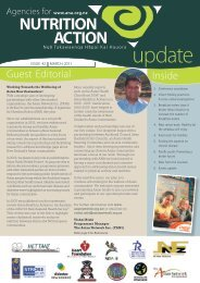 Quarterly newsletter: March 2011 - Agencies for Nutrition Action