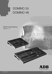 DOMINO 24 DOMINO 48 - ADB Lighting Technologies