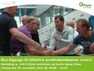 Nye tilgange til effektive sundhedsindsatser AM2012